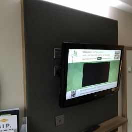 student accommodation tv backboard